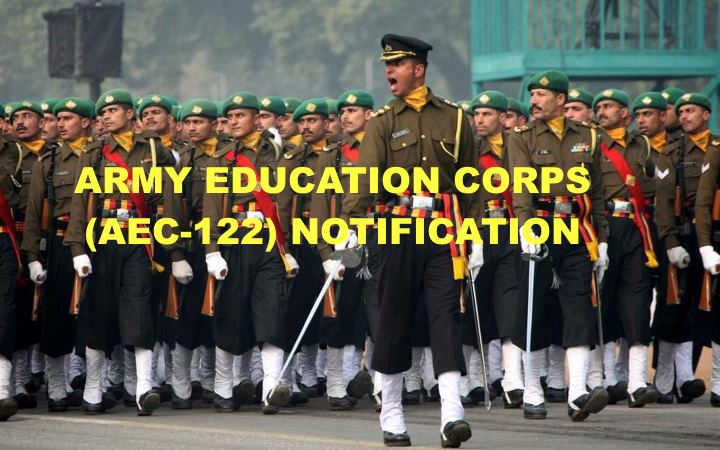 ARMY EDUCATION CORPS (AEC-122) NOTIFICATION 2015