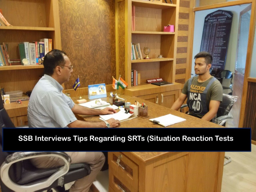 SSB Interviews Tips Regarding SRTs (Situation Reaction Tests