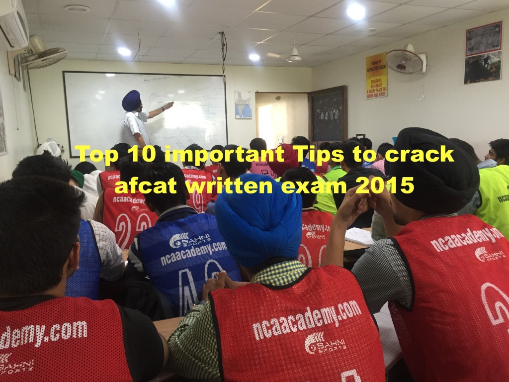Top 10 important Tips to crack afcat written exam 2015