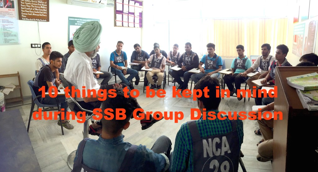 10 things to be kept in mind during SSB Group Discussion