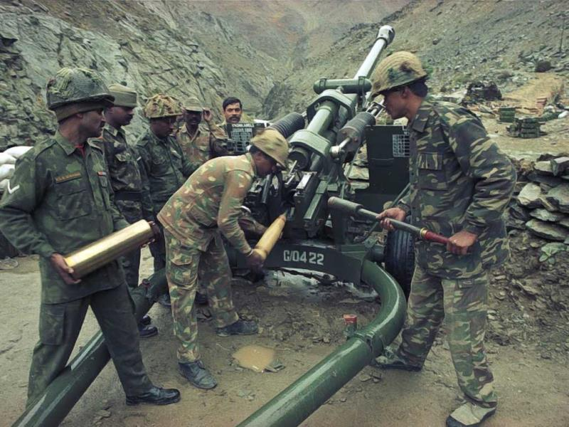 Use of Arty by Indian Army