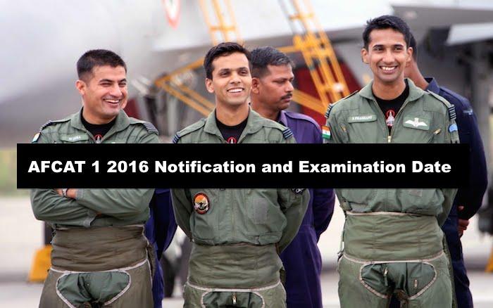 AFCAT 1 2016 Notification