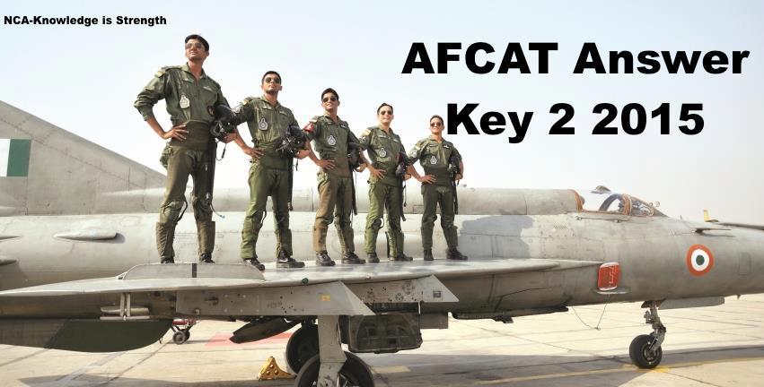 afcat answer key 2  2015