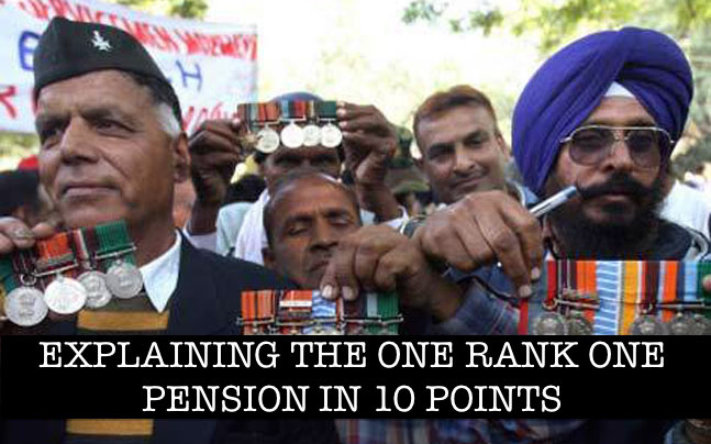 One Rank one pension in 10 points