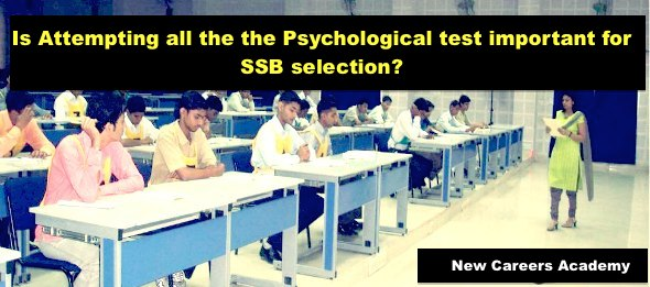 Psychological test important for ssb selection