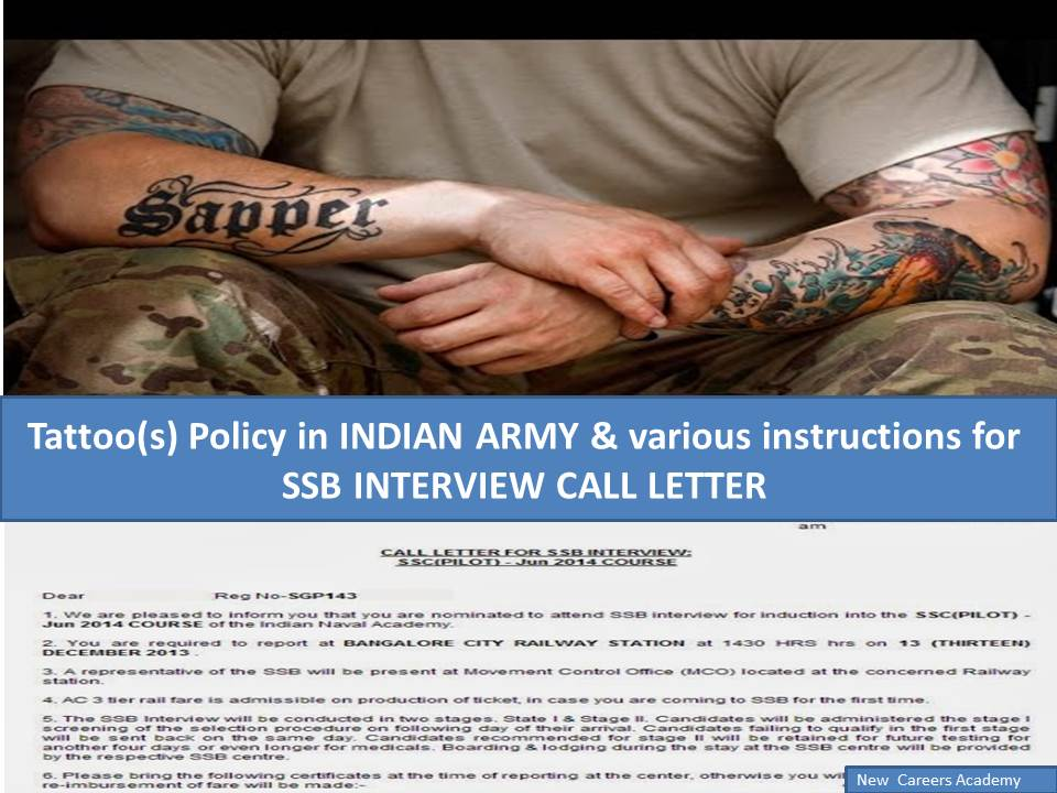 tatoos-policy-ssb-interviews-call-latter