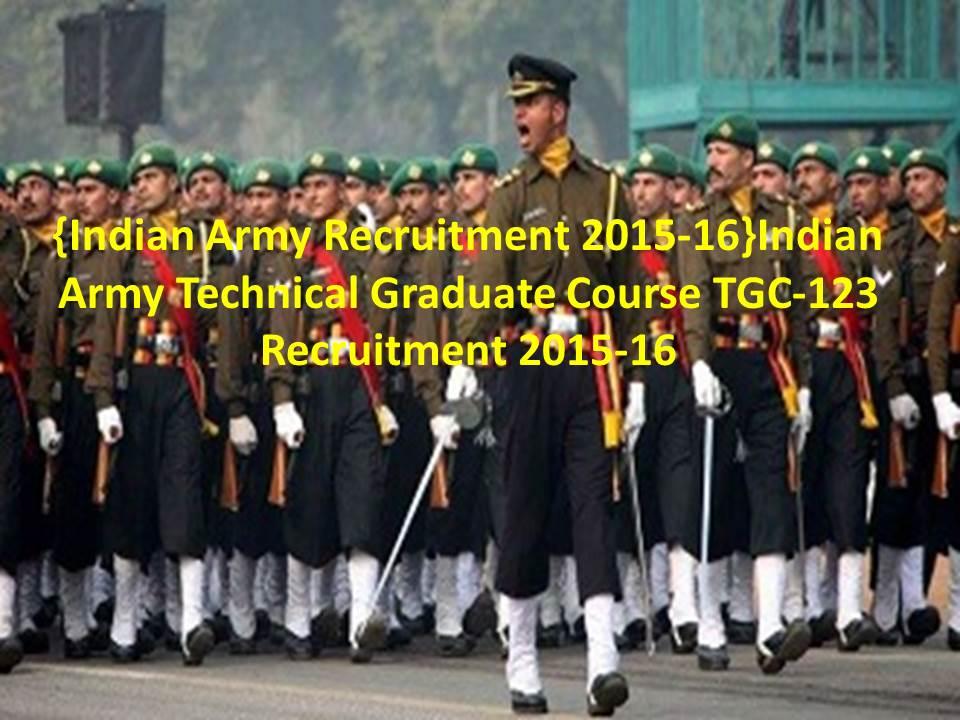 TGC-123 Recruitment 2015-16