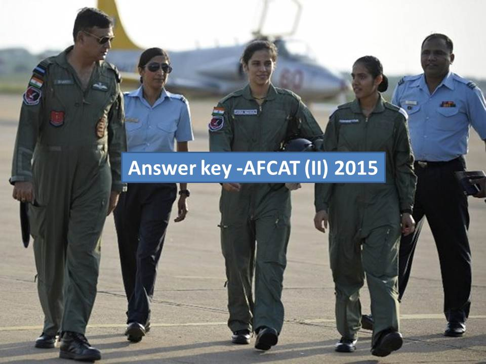 afcat answer key 2015