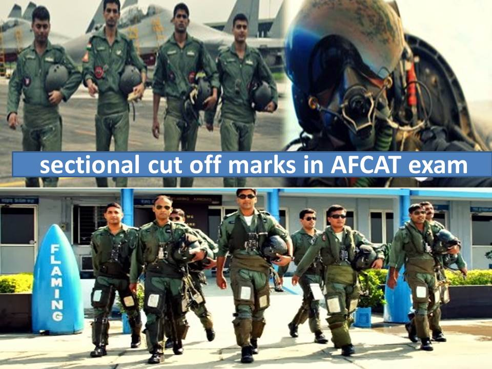 AFCAT sectional cut off marks