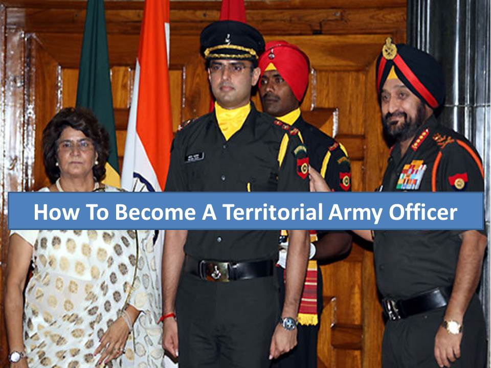how to Become Territorial army officer