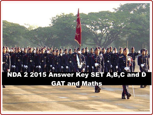 NDA Answer Key for set A,B,C and D