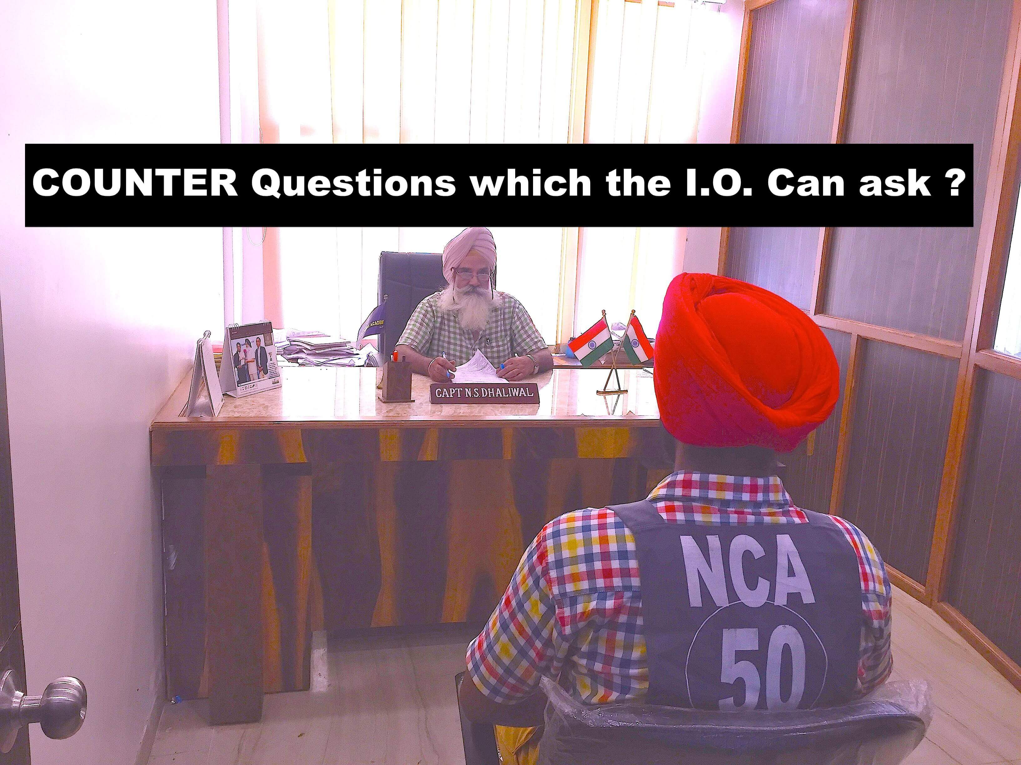 counter questions asked at the ssb by the i.o., Interview questins asked by the i.o.