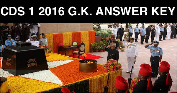 cds1 2016 gk answer key