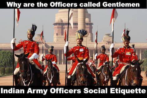 Military Officers Social Etiquette