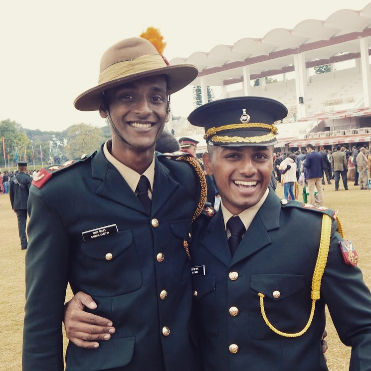 Rahul Nair and Sagar Shetty During their passing out parade
