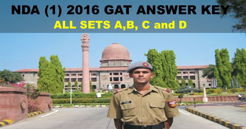 nda 1 2016 gat answer key