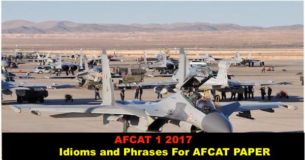 afcat idioms and phrases