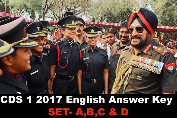 cds 1 2017 english answer key