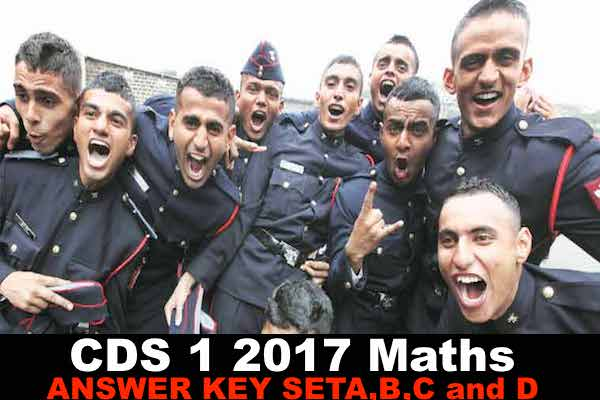 cds 1 2017 maths answer key sert a,b,c and d