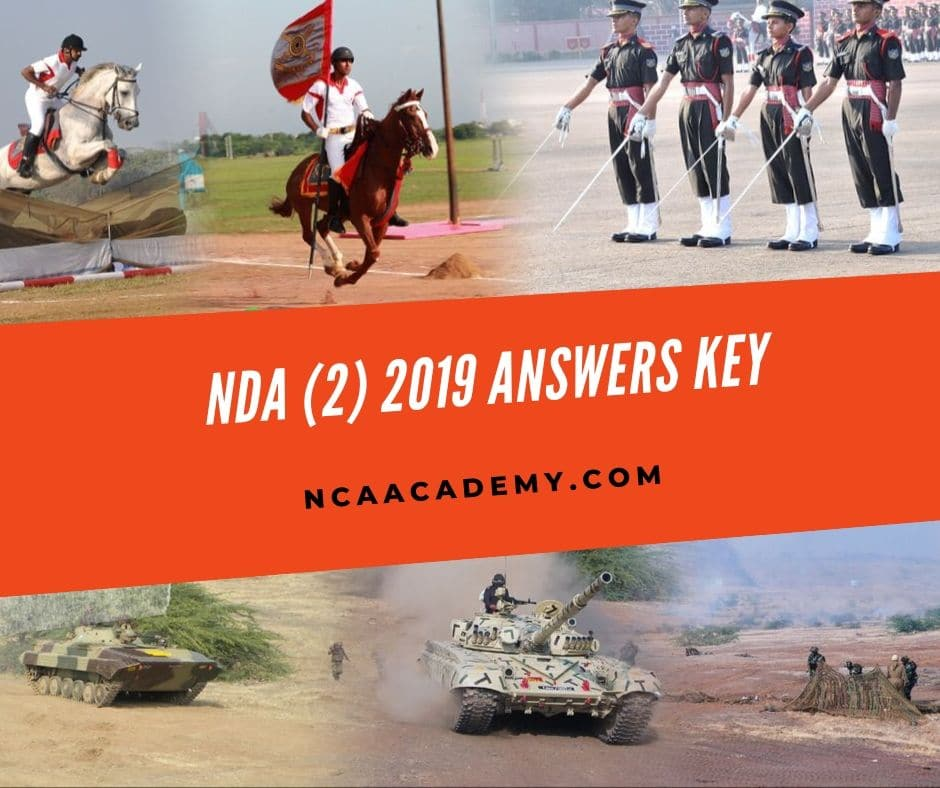 NDA (2) 2019 Answer key /Solution key  with Solutions