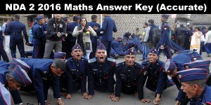 NDA 2 2016 Accurate Maths Answer Key