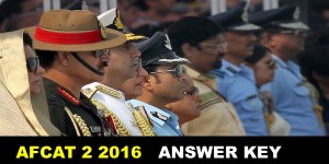 AFCAT 2 2016 Answer KEY NCA ACADEMY