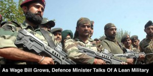 As Wage Bill Grows, Defence Minister Talks Of A Lean Military