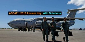 AFCAT 1 2016 and EKT Answer Keys