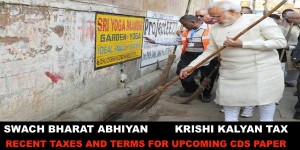 Krishi Kalyan TAX and various Important Terms for Upcoming CDS Paper