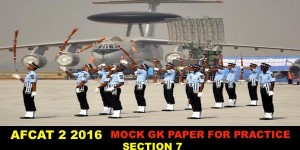 Afcat 2 2016 GK Paper for Practice