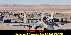 Idioms and Phrases for AFCAT Paper NCAACADEMY