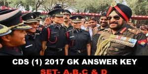 CDS 1 2017 GK Answer Key NCA ACADEMY All sets SET A,B,C and D