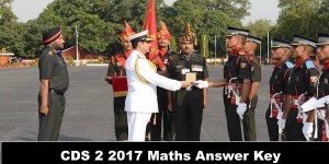 CDS 2 2017 Maths Answer Key/Solutions (Video Solutions)
