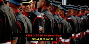 UPSC CDS 2 2016 Answer Key For English – Set A,B,C and D (23 Oct 2016)