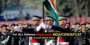 For All Defence Aspirants NDA/CDS/AFCAT Part - 2