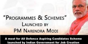 For all Defence Aspirants Schemes by the Government for Job Creation