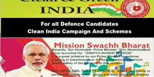 For all Defence Candidates  Clean India Campaign And Schemes