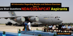 Sure Shot QUESTIONS FOR NDA/CDS/AFCAT PAPER Regarding Defence Part-2