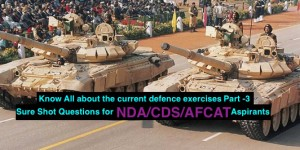 Sure Shot QUESTIONS FOR NDA/CDS/AFCAT PAPER Regarding Defence Part-3