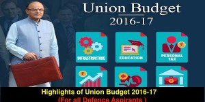 Highlights of Union Budget 2016-17 (For all Defence Aspirants )