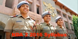 NDA 2 2016 Syllabus for NDA Examination