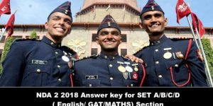 NDA 2 2018 Answer key for SET A/B/C/D ( English/ GAT) Answer key & Expected Cut offs